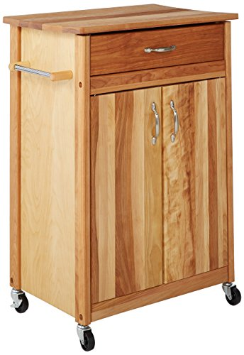 Cabinet Butcher Block - Catskill Craftsmen Butcher Block Cart with Flat Doors