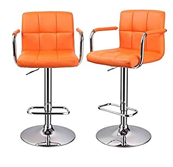Tresenhocker Mit Lehne duhome 0080 barhocker 2er set in orange barstuhl tresenhocker mit