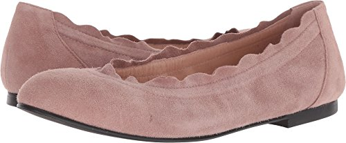 Sole Suede French Flats (French Sole Women's Cuff Flat Dusty Pink Suede 7.5 M US)