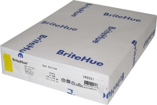 Brite Hue Gold 65# Cover 8.5x11 250 sheets by Brite Hue by Brite Hue (Image #1)