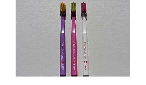 Ultra Soft Cepillo de dientes, 4 cepillos, CURAPROX Ultra Soft 5460. Mejor limpieza, suave al tacto, en bonitos colores para su.: Amazon.es: Salud y cuidado ...