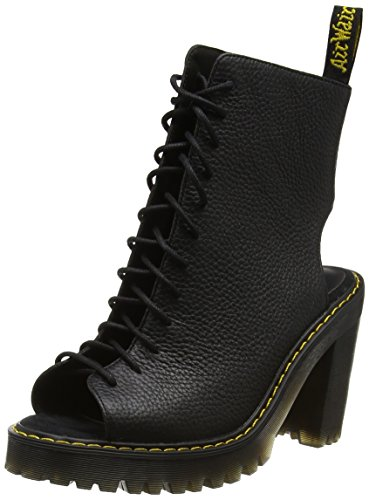 Dr. Martens Women's Carmelita Open Heel Lace Up Boots, Black, Leather, Rubber, 5 M UK, 7 M US by Dr. Martens