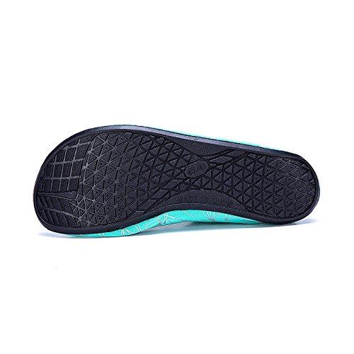 Natación Soles de de Piscina de Xzx LEKUNI grün Agua de Zapatos Calzado Playa Unisex Zapatos Agua Rápido Secado Respirable de LK Color nUOax