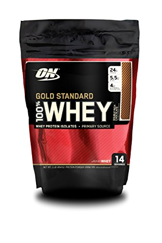 Sweet Sugar Soy - Optimum Nutrition Gold Standard 100% Whey, Double Rich Chocolate, 1 Pound