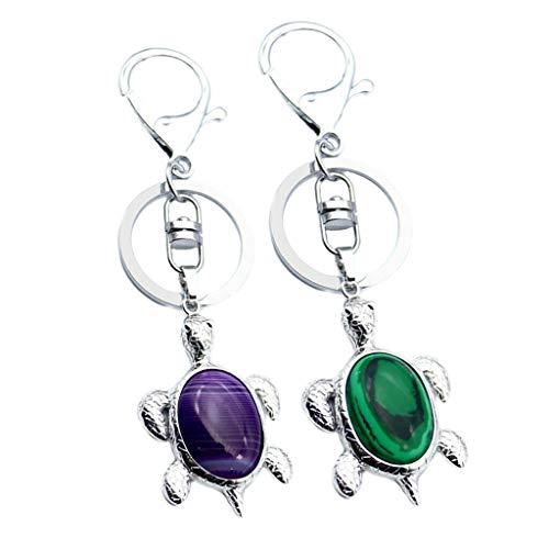 Energy Crystal Tortoise Pendant Keychain Sea Turtle Bag Keyring Necklace Jewelry Crafting Key Chain Bracelet Pendants Accessories Best