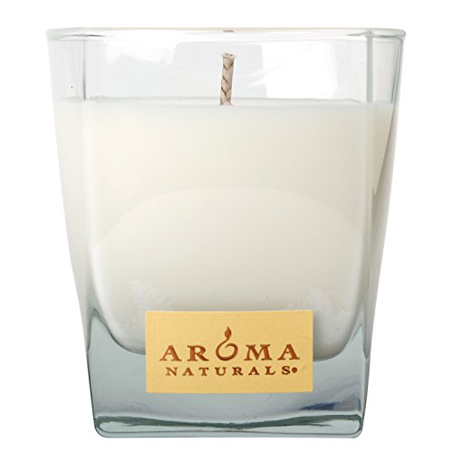 Aroma Naturals Ambiance Square Glass Candle, Orange and Lemongrass, 6.8 Ounce