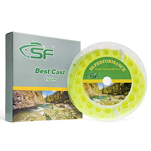 SF Weight Forward Floating Fly Fishing Line Welded Loop Fluro Yellow 100FT WF10F