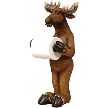 Moose Standing Toilet Paper Lodge Holder Wilderness Bath