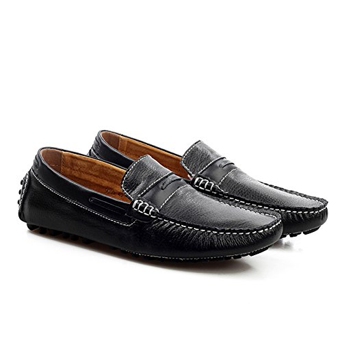 Leather Place Shoes Loafers Men's Enllerviid Black Work tw1aS