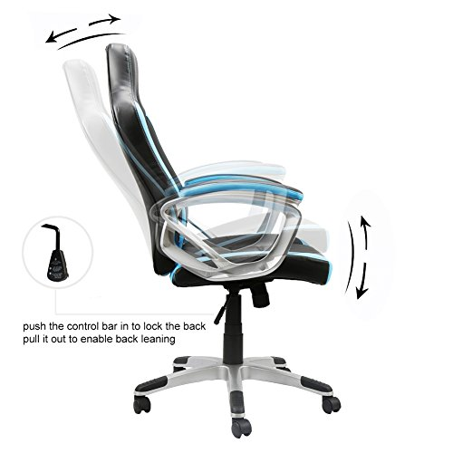 41MziLWOdFL - EAMBRITE-Gaming-Chair-Swivel-Racing-Style-Task-Chair-Ergonomic-High-back-Computer-Chair-Leather-Office-Chair