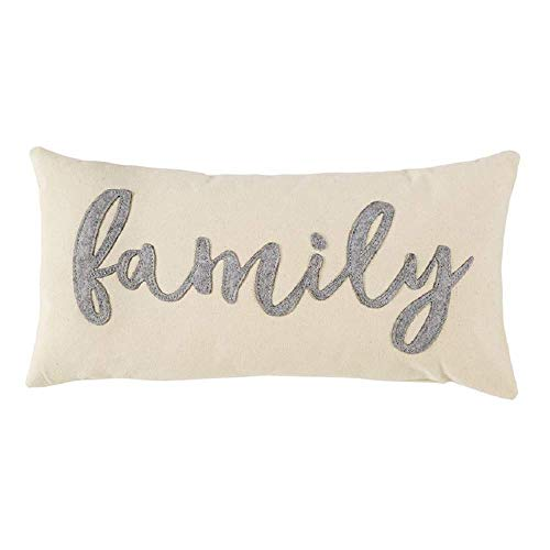 - Mud Pie Canvas and Felt Family Pillow