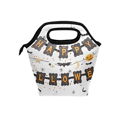 Lunch Bag Happy Halloween Party Printed Neoprene Tote