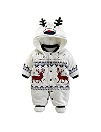 Baby Clothes Boys Girls Hooded Romper Cotton Thicken Jumpsuit Outwear Cute Outfits Vine 6 Months