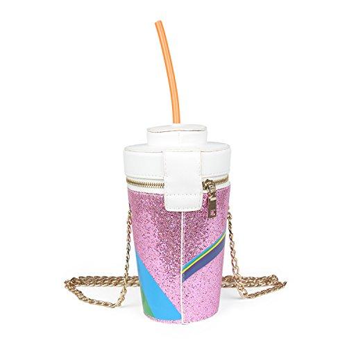 Purple Unicorn Drink Cola Bag Shape Crossbody Cup Womens Purse Tears Chain Kuang Fountain f1nRwA7qq