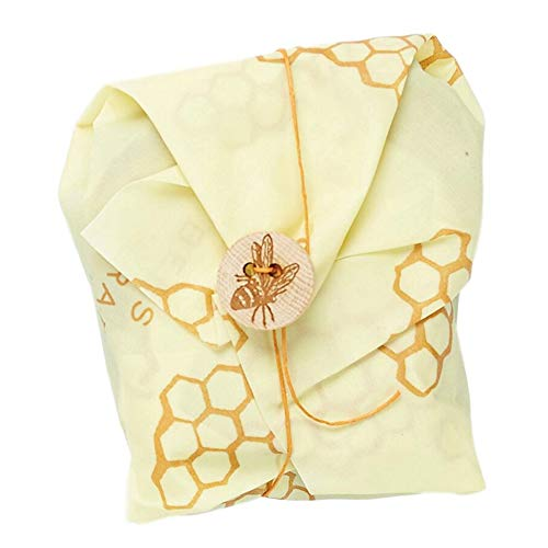 Bee's Wrap Sandwich Wrap, Eco Friendly, Reusable, and Sustainable Plastic Free Food Storage for Wrapping Sandwiches - Honeycomb - Sandwich Wrap Reusable