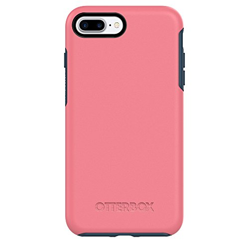 OtterBox Symmetry Series Case for Apple iPhone 8 Plus / 7 Plus (5.5 Only) (Certified Refurbished) (Saltwater Taffy (Pipeline Pink/Blazer Blue))