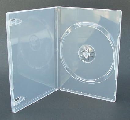 Caja de DVD 7mm Individual Transparente Paquete de 25: Amazon.es ...