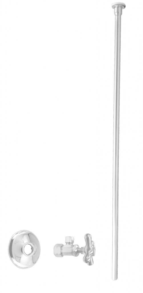 Westbrass D105KFHX-50 Toilet Kit 5/8'' 3/8'' OD x 20'', Flat Head, Powder Coat White by Westbrass