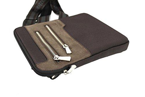 Borsello uomo Roncato tracolla piatta porta tablet bandoliera 46.58.21 marrone