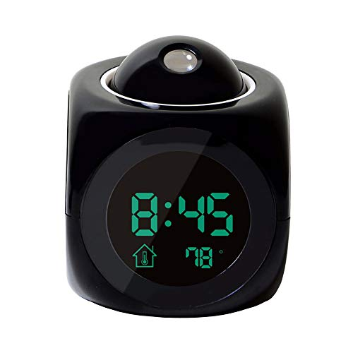 scgtpapadc Fashion Portable Home BedroomLCD Display Time Voice Prompt Digital Alarm Clock - Black