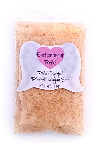 - Very Small 1 oz net wt. Reiki Charged Pink Himalayan Halite Salt Bag for Home Cleansing Smudging Purification