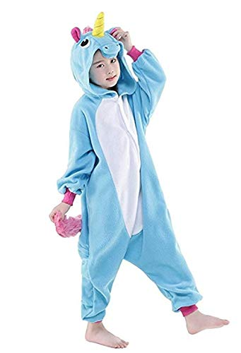 Women's Sleepwear Adult Unicorn Onesie Onepiece Pajamas Kids Halloween Animal Outfit Christmas (Kids#120 fit for Height 43-47