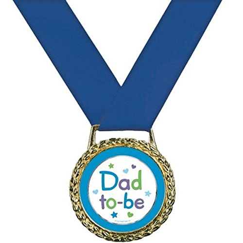 (Amscan Delightful Dad To Be Medal of Distinction Baby Shower Party Novelty Favors, 2
