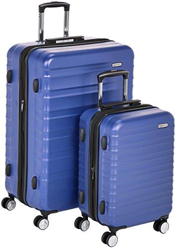 "AmazonBasics Premium Hardside Spinner Luggage with Built-In TSA Lock - 2-Piece Set (20"", 28""), Blue"