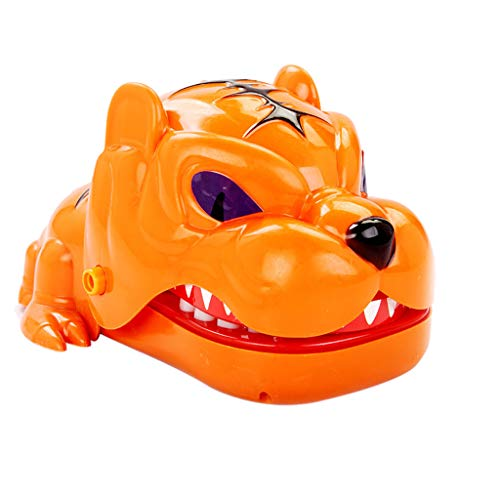 Wffo Slow Rising Squishy Toy, Chomper Biting Finger Game Mouth Dental Toys Funny Party Home Game Party Game (Orange)