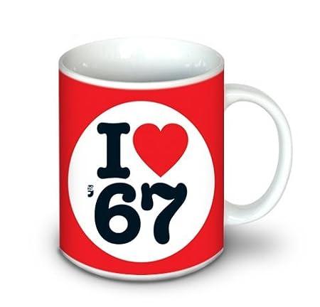 1967 Regalos de Cumpleaños - I Love 1967 Taza: Amazon.es: Hogar