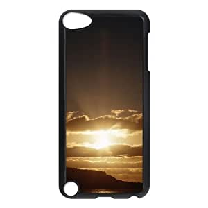 Diy Beautiful Dusk Phone Case for ipod touch 5 Black Shell Phone [Pattern-1]