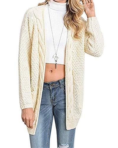 Stile Con Giubotto Manica Lunghi Tasca Giovane Modern Beige Moda Comodo Lunga Donna Monocromo Cappotto Baggy Autunno Maglioni q7xwT8nZT