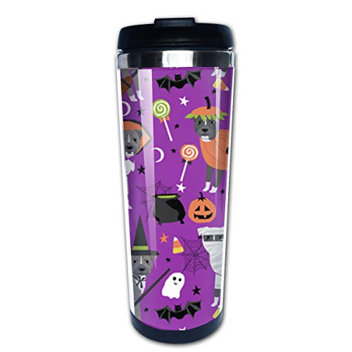 (Pitbull Halloween Steel Coffee Mug Leakproof Insulated Thermos Cup,Stainless Steel Coffee Tumbler - Sleek Design, Personality Fashion)