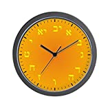 CafePress – Hebrew Numeral Wall Clock (Golden Sands) – Unique Decorative 10″ Wall Clock