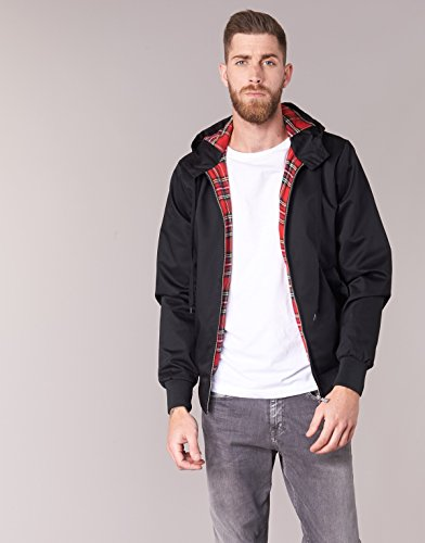 noir Giacca Hooded Harrington Da Nero Uomo OCZnSvg