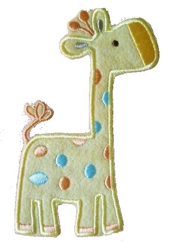 Giraffe Baby (Tall) Iron on Sew on Embroidered Badge Applique Motif Patch From PatchWOW
