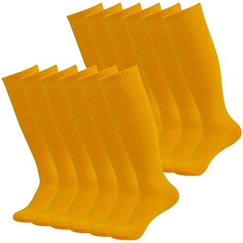 Fasoar Men's Ladies Cotton Thigh-Highs Socks Stockings Sexy and Elegant Pack of 12 Orange  12 Pack orange  One ()