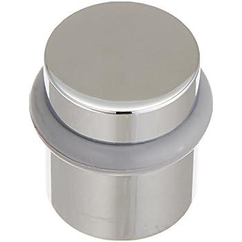 Inox Dsix02 32d Cylindrical Floor Mount Door Stop Satin