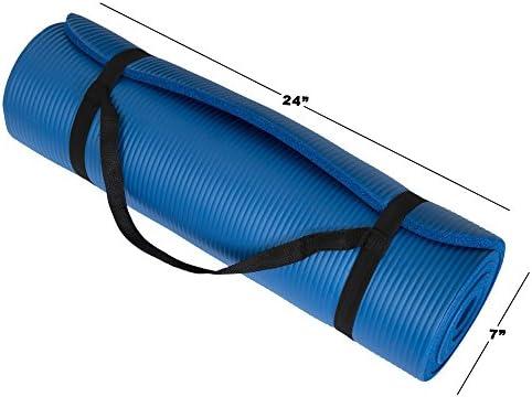 Wakeman Fitness - Esterilla de ejercicio para yoga (180 x 60 x 0,5 cm), color azul 8