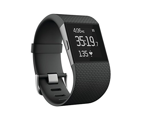 Fitbit Surge Fitness Superwatch, Black, Large (US Version) (Renewed)