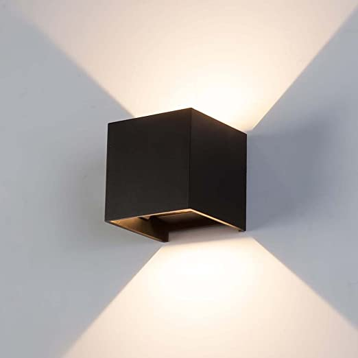 Owikar Modern Brief Black Square Surface Mounted 7w Led Wall Lamp Outdoor Waterproof Ip65 Aluminum Wall Lights Garden Hallway Hotel Living Room Bedroom Sconce Lamp Warm White Amazon Co Uk Lighting