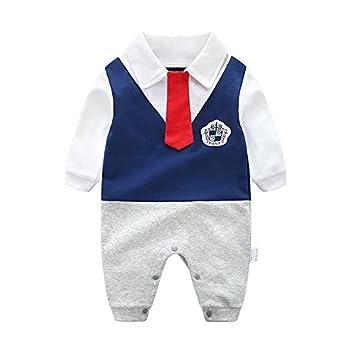5639b9aa3a9f4 GORBAST 男の子 ベビー服 フォーマル 肌着 新生児 ロンパース 紳士 春 秋 冬 長袖 結婚式服 ジャンプ