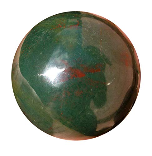 - Healing Bloodstone Crystal Sphere - Natural Blood Stone Aura Cleansing Gemstone Reiki Ball For Women & Men - Authentic Heliotrope Bloodstones Crystals For Positive Energy, Meditation & Yoga - 40-50 mm