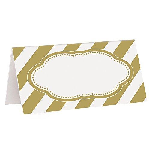 Unique 49593 Gold Place Cards