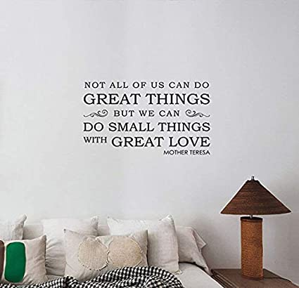 15c52501602e Do Small Things with Great Love Mother Teresa Inspirational Quote Wall  Sticker Vinyl Lettering Motivational Saying