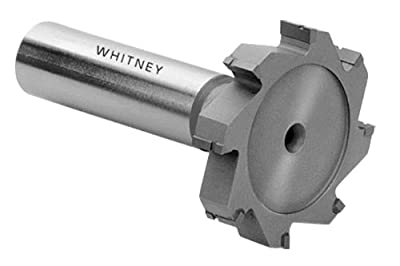 "Whitney Tool 354040 Keyseat Milling Cutter, Style 121 Carbide Tipped, #404 (3), 1/2"" Cutting Diameter, 1/8"" Cutting Width, Stagger Tooth"