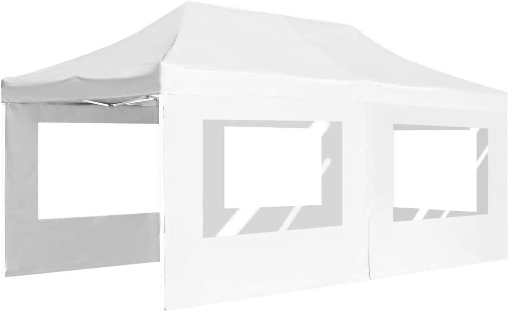 vidaXL Carpa Plegable Profesional con Paredes Aluminio Cenador Pagoda Pérgola Fiestas Celebraciones Estructuras Recintos Parasoles 6x3 m Blanco: Amazon.es: Hogar