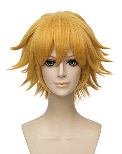Topcosplay Short Blonde Wig Halloween Costume Cosplay wig