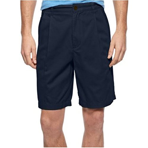 Club Room Core Double Pleat Twill Shorts Officer Navy 34