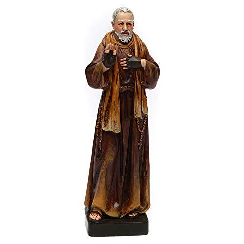 Padre Pio Statue in Coloured Wood Paste 15cm